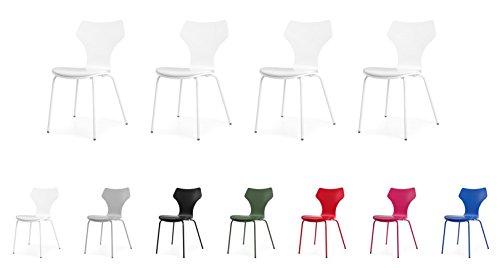 Tenzo 0601-001 Lolly 4er-Set Designer Stühle Holz