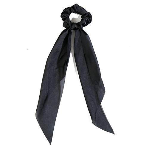 JSZWGC Accessoires de Mode Cheveux Longs écharpe Rubans Scrunchie for Les Femmes Bow Tie élastique Queue de Cheval Titulaire Fille Bandeaux (Color : 2