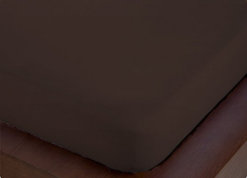 ForenTex - Sábana Bajera Ajustable, (X-4001), Marrón Chocolate, Cama 150 cm