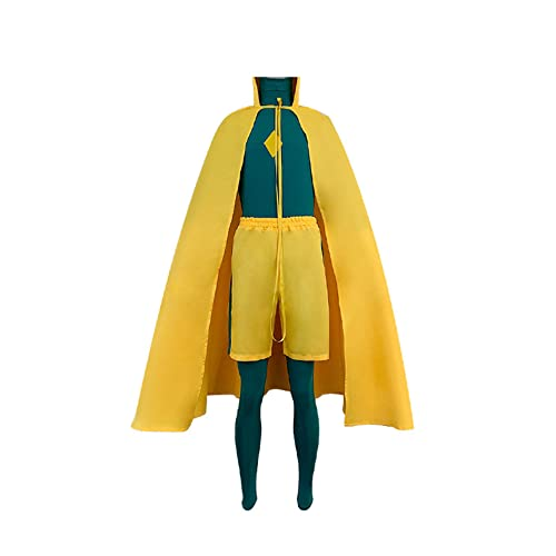 Anime Wanda Vision Cosplay Uniforme Bruja Escarlata Disfraz Chaqueta con capucha uniforme ajustado capa capa traje Halloween vestido de fiesta para mujer, B, XXX-Large