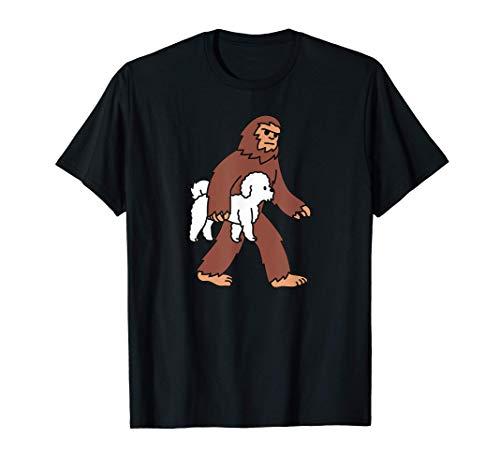 Pie Grande Bichon Frise Perro Camiseta