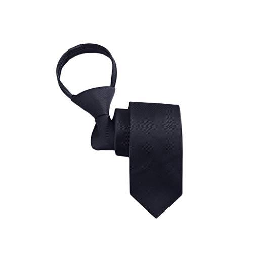 Corbata Hombre Han Versión Estrecho Vestido de Estudiante Negocio Lazy Zipper Tie (Color : H)