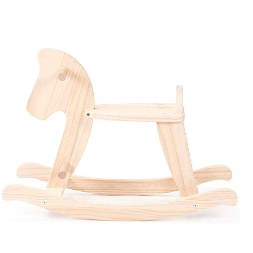 Baby Rocking Horse Ride Toy, Rocking Horse Solid Wood Trojan Nordic Trojan Horse