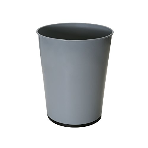 Bath Bliss Trash Can-5-Liter Wastebasket Perfect for Bathroom, Bedroom, Office, Small Space Living 11 Inches Stainless Steel, Grey