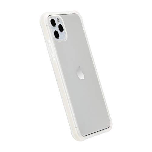 AmazonBasics - Funda protectora para iPhone 11 Pro Max, TPU+TPE+PC (blanco), antiarañazos