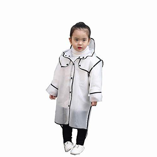 Kinderen Siamese Regenjas, Dames Hooded Regenjas, Regenjas Reizen Outdoor Draagbare Transparante Poncho - EVA Materiaal