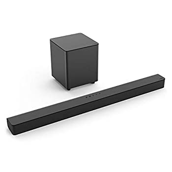VIZIO V-Series 2.1 Channel Soundbar System with 5  Wireless Subwoofer - Black  Renewed