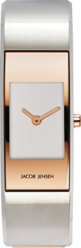 JACOB JENSEN Damen Analog Quarz Uhr mit Edelstahl Armband Eclipse Item NO. 465