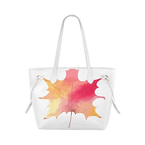 Reusable Tote Bags Maple Leaf Colorful Autumn Leaves Ladies Handbag Print Tote Bag Large Capacity Water Resistant With Durable Handle