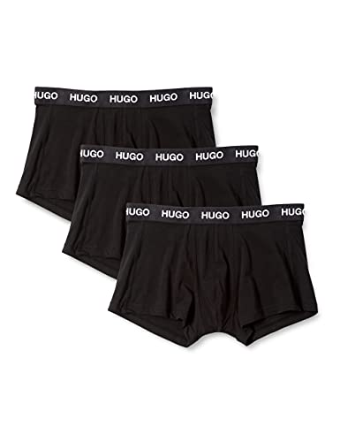 HUGO Herren TRUNK 3er Pack Boxershorts, Black1, L