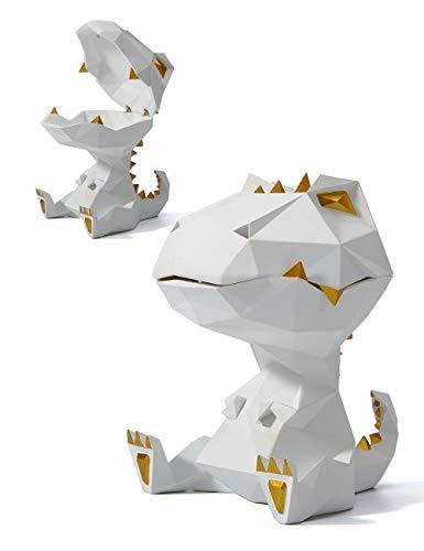 HAUCOZE Cookie Jar Candy Dish Dinosaur Statue Decor Animal Sculpture Modern Art Abstract Figurine Resin Gifts 18cmH