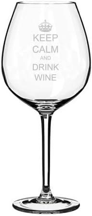 Calm the Flock Down Wine Glass