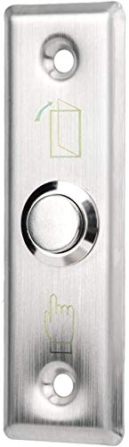 Cerradura puerta, puerta acceso acero inoxidable, botón liberación cerradura empuje para salir duradero, interruptor del sistema control acceso para puertas, salidas, portones y control automático