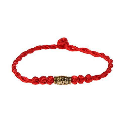 Pulsera de la Suerte de Hilo Rojo de Plata tibetana Tradicional, Amuleto de Cadena, Pulsera de Pareja, joyería para Mujeres y Hombres, con Oro BCVBFGCXVB