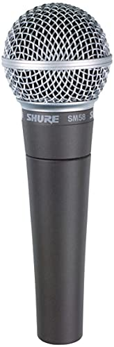 Shure SM58-CN Cardioid Dynamic Vocal Microphone with 25' XLR Cable