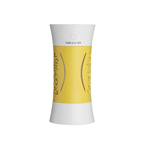 LAKYT Humidificador Humidificador de Aire portátil 260ml USB Mini humidificador Niebla Fresca Aroma Difusor Lámpara romántica Purificador de Aire Mistán Fabricante Ambientador Casa (Color : Yellow)