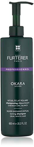 Rene Furterer Okara Silver Toning Shampoo for Gray, White Hair, 20.2 Fl oz.