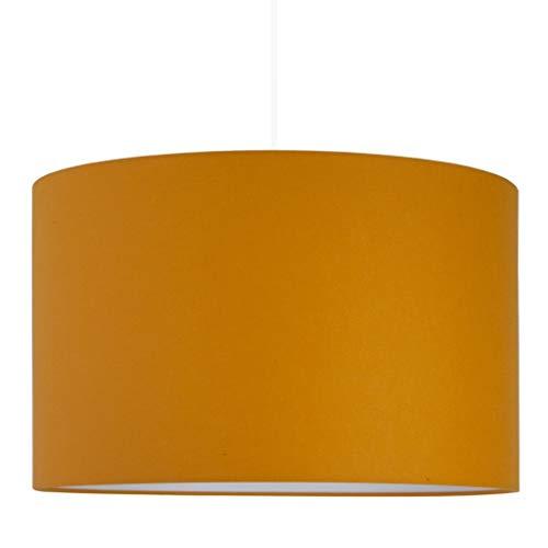 youngDECO Lampe für Baby- und Kinderzimmer, Senffarbe, 2xE27, Ø38cm großer Lampenschirm aus Textil, skandinavische Kinderzimmer-Deko für Mädchen & Junge, komplette Deckenlampe für Kinderzimmer