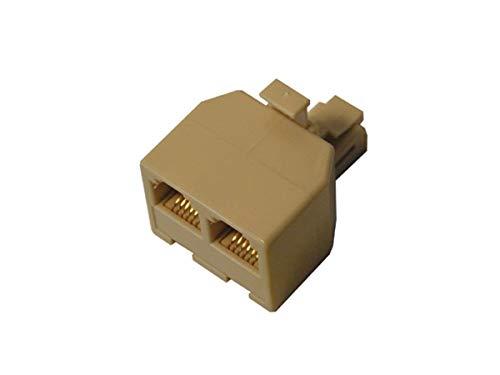 Sdoppiatore telefonico 1 spina / 2 prese modulari 6p/4c