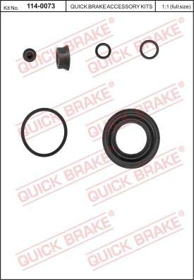 QUICK BRAKE 114-0073 Reparatursatz, Bremssattel Bressattelträger Bolzen, Bremssattel Reparatursatz