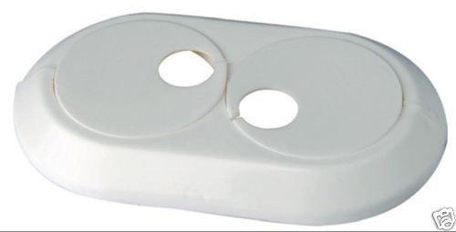 5 Stück Doppel Heizungsrosetten Heizungsmanschetten weiß 28mm