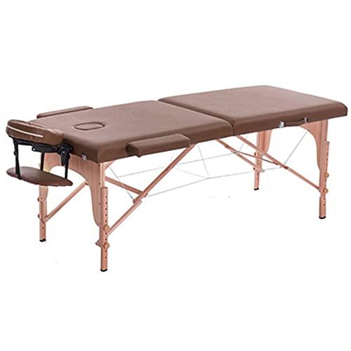 Table De Massage Pliant, Spa Lit De Massage Portable Doux En Cuir Pu Lit De Massage Réglable En...