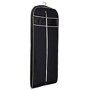 MISSLO Thickness 60  Suit Dress Black Garment Bag with Clear Window Pocket