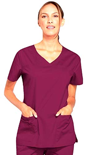 Smart Uniform V-Neck Top, XL, Wine [Wein]1