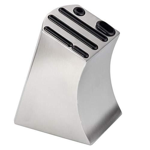 Dongbin Messerblock Ohne Messer, Unbestückt, Für Insgesamt 6 Messer, Wetzstahl Und Schere, Aus Messerhalter Aus Edelstahl,Küchenablage Kleiner Bauchmesserhalter