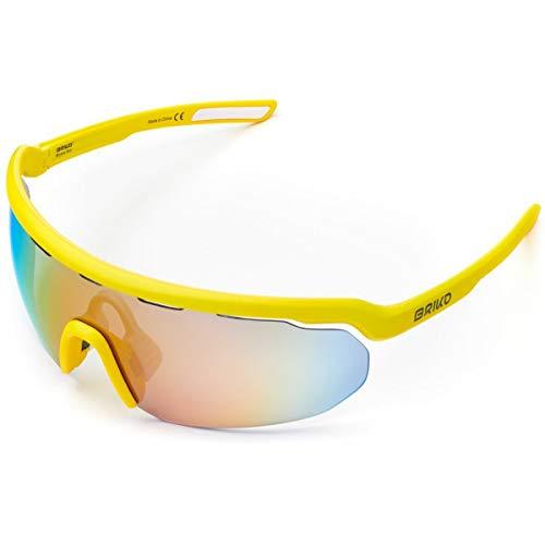 Briko Stardust 2 Lenses Gafas Sol Ciclismo, Unisex Adulto, School Bus, One