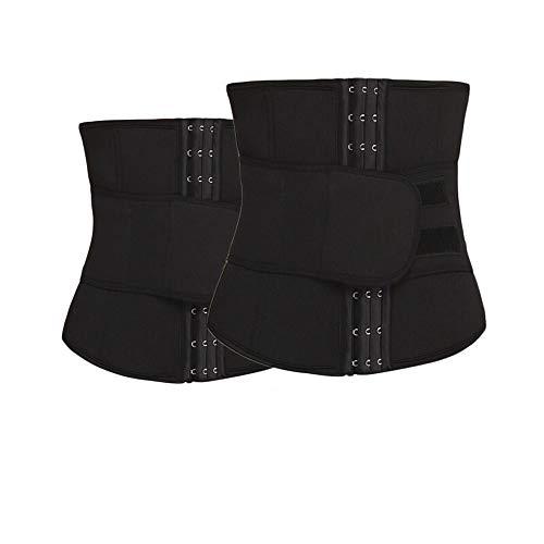 Rugsteungordel XS-5XL Taille Trainer Mannen Slim Waist Riemen Tummy Body Shaper Corset Slimming Ondergoed neopreen Shapewear Strap Plus Size brace Lumbale (Color : Black 2 pieces, Size : M)