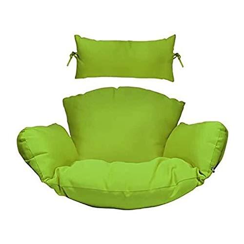 GSG Floor Lounger Swing Hanging Basket Chair Cushions, Thicken High Elasticity Sofa Floor Cushions, Cotton Linen Hammock Chair Cushion Pillow Cushion (Color : Verde)