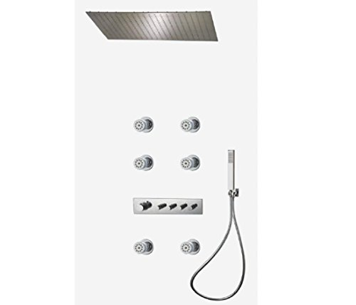 Review PST@ Ceiling concealed thermostatic shower rain and massage shower head