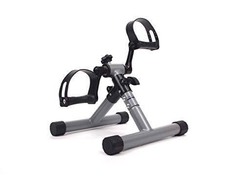 MINI BIKE POWERLEGS - Mini cyclette per braccia e gambe, in acciaio, compatta pieghevole portatile - Esercizio per le gambe per migliorare la circolazione - Pedaliera - Riabilitazione - Fisioterapia