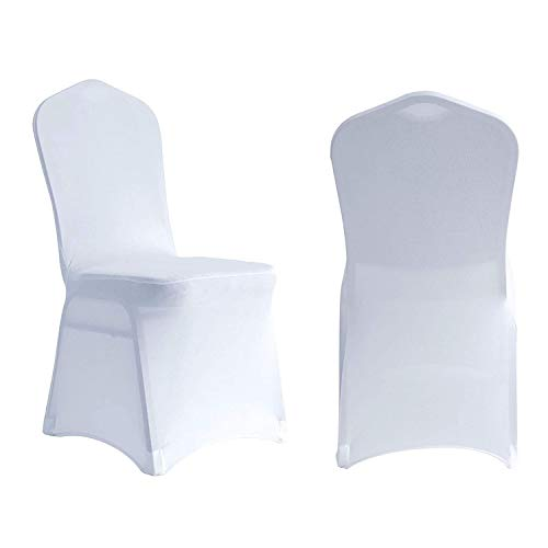 Manmengji 20 Stück Stuhlhussen Spandex Lycra Stretch Schonbezug, Anzug für Hochzeitsfeier Bankett, Elastischer Esszimmerstuhl Protector