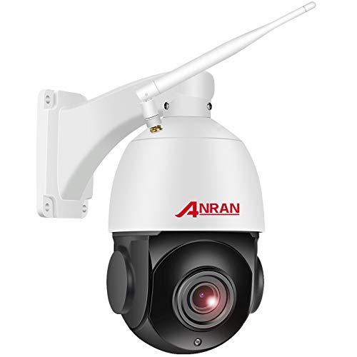 【20X Zoom】 5MP PTZ Cámara de Videovigilancia WiFi Exterior Óptico de Alta Velocidad, ANRAN Cámara en Domo con Tarjeta SD de 64GB, Audio Bidireccional, Detección de Movimiento, Visión Nocturna