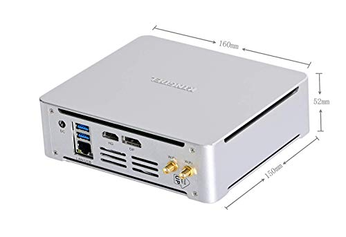 KINGDEL Mini PC de escritorio Windows 10 Pro, procesador Intel Core i7-8750H, 16GB DDR4 RAM 512GB SSD 2TB HDD, 4.10GHz Max Turbo Frecuencia, 9MB caché, 45W TDP, con ventilador