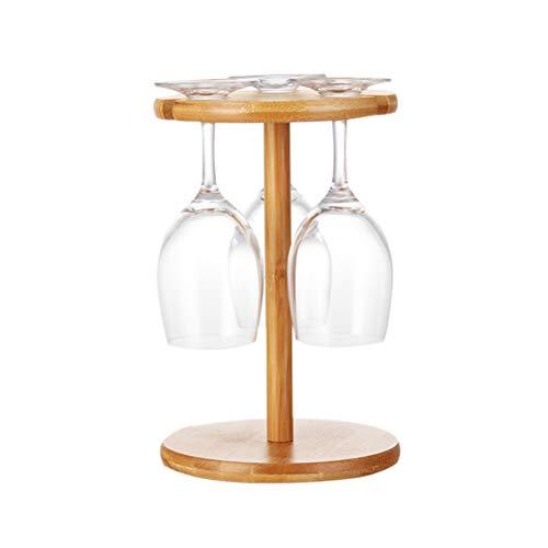Urhomy 竹製ワインラック ぶら下げカップホルダー ワイングラスホルダー グラスハンガーラック ワイングラスカップラック ワイングラス乾燥ラック ボトルホルダーデスクトップ ワイングラス収納フックスタンドオーガナイザートレイ クリエイティブ グラスカッ