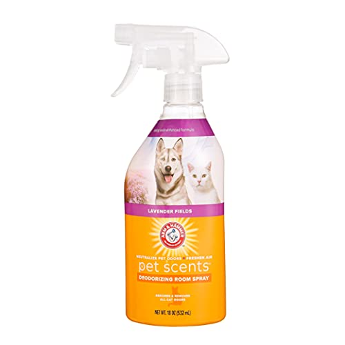 Arm & Hammer for Pets Air Care Pet Scents Room Spray for Pets in Lavender Scent   18 oz Air Freshener Spray for Pet Odors in The Home, Lavender Fields Scent