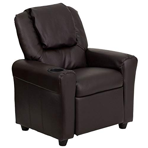 Flash Furniture Contemporary Brown Leather Kids Recliner