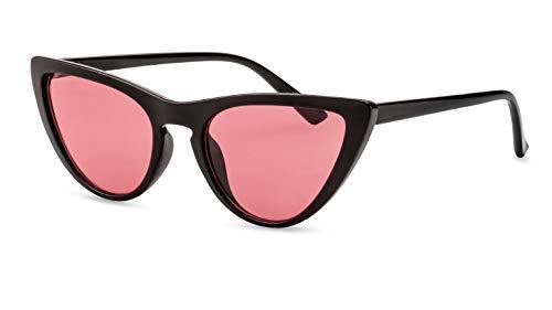 Primetta Cateye Sonnenbrille/Modische Damen Sonnenbrille im Retro Look/Rot getönt F2508300