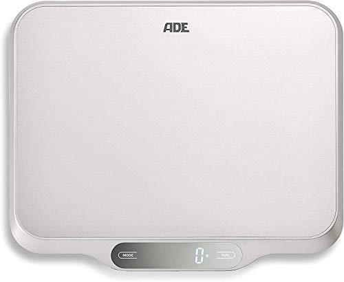 ADE Ladina Digitale Keukenweegschaal, 15 kg, Roestvrij staal, Zilver/Grijs, 31 x 26,5 x 2,5 cm