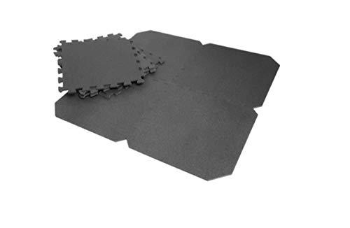 Crivit Bodenschutzmatte 8-teiliges Set Oberflächenschutz | Unterlegmatte für Sport Pool Gym Fitness Keller Garage
