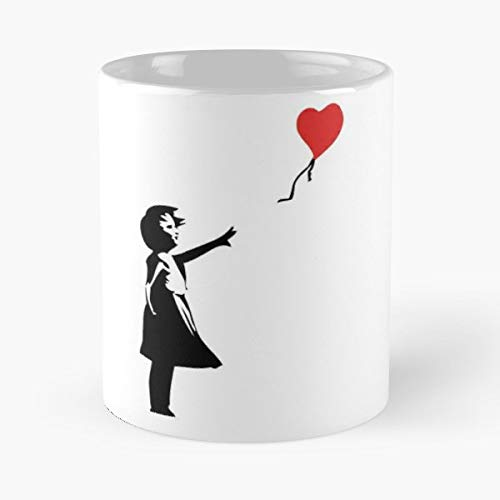 Banksy Letting Love Go Balloon Girl Classic Mug - Novelty Ceramic Cups 11oz, Unique Birthday And Holiday Gifts For Mom Mother Father-teiltspe