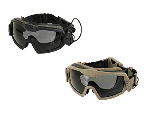 Taktische Schutzbrille mit Ventilator, Safety Fan Googles, Airsoft Softair Schießbrille (Tan)