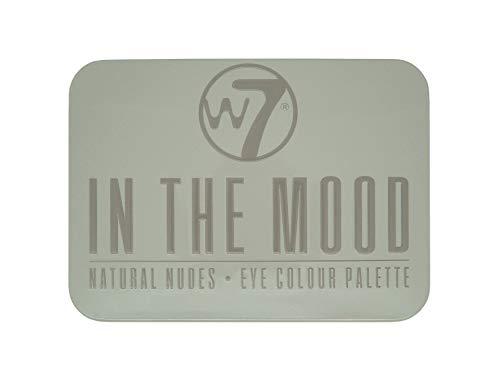 w7 In the Mood natural nudes eye shadow palette - Make up palette mit 6 pigmentierten leuchtenden lidschatten