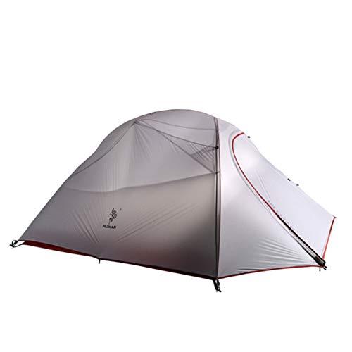 SHU Antipluie Double Double Couche De Nylon Extérieur Antipluie Mât en Aluminium Ultra-Léger Quatre Saisons Tente De Camping