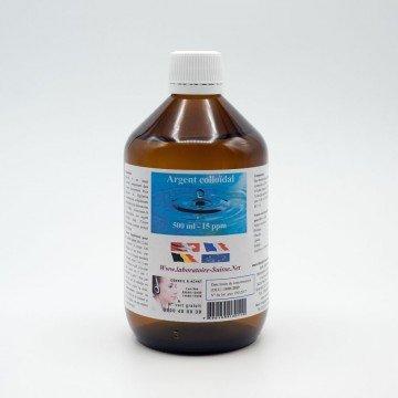 Argent colloïdal 500 ml - 510 ml - 15 PPM - Laboratoire Suisse - D'une qualité exceptionnelle pour des résultats exceptionnels