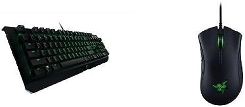 Razer BlackWidow X Ultimate - Backlit Compact Metal Mechanical Gaming Keyboard +  Deathadder Elite Gaming Mouse Combo