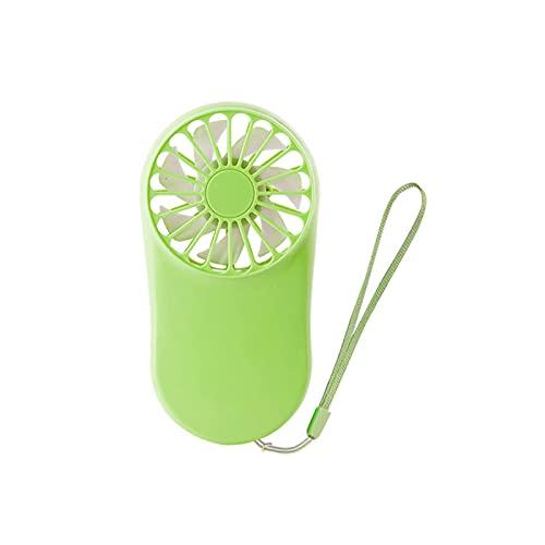 ZJSXIA USB Mini Fans Portable Air Enfriador de Aire eléctrico Recargable Lindo Pequeño Fans de enfriamiento Estudiante Inicio Viaje al Aire Libre Mini Ventilador (Color : Green)